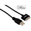 Кабель данных для iPhone 3G/3G S/4/4S 1.5 м, черный, Hama