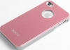 Чехол Aluminum для iPhone 4/4s, розовый, HOCO