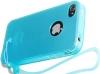 Чехол Crystal для iPhone 4/4s, св.-голубой, HOCO