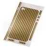 Защитная пленка Carbon для iPhone 4/4s золотистая, HAMA