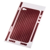 Защитная пленка Carbon для iPhone 4/4s красная, HAMA