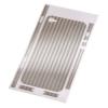 Защитная пленка Carbon для iPhone 4/4s серебро, HAMA