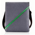 Сумка iPAG для iPad, нейлон, серый с зеленой полосой, Bone